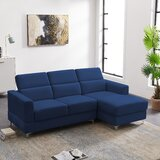 Kelm 84.6 Wide Velvet Right Hand Facing Reclining Sofa & Chaise by Ivy Bronx