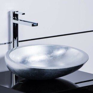 Vetro Freddo Modern Oval Vessel Bathroom Sink by Maestro Bath
