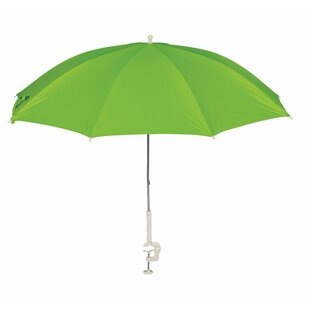 Ebern Designs Barrios Clamp-On Tiltable Assorted 4' Beach Umbrella