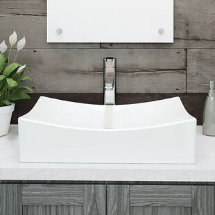 Clearance Kalina Classically Redefined Ceramic Rectangular Vessel Bathroom Sink By DECOLAV
