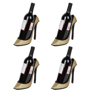 Byington High Heel Holder 1 Bottle Tabletop Wine Rack (Set of 4)