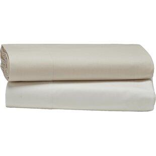 Coyuchi Percale 300 Thread Count 100% Cotton Flat Sheet