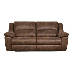 Loon Peak Umberger Contemporary Double Motion Reclining Sofa by Simmons Upholstery