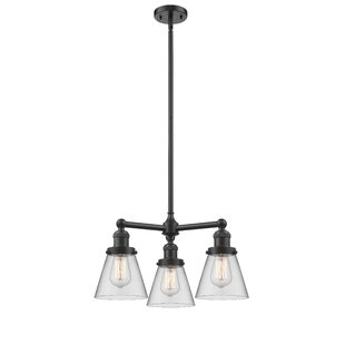 Ellison 3-Light Shaded Chandelier by Ivy Bronx