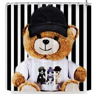 East Urban Home Shirlei Patricia Muniz Happy Bear Shower Curtain