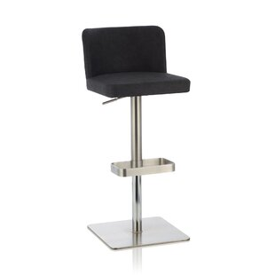 Wlikerson Height Adjustable Swivel Bar Stool By Wade Logan