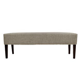 Alcott Hill Woodside Fabric Storage Bench