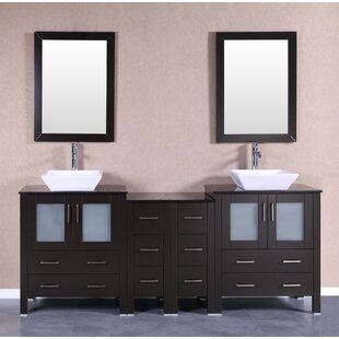 Fulton 84 Double Bathroom Vanity Set with Mirror by Bosconi