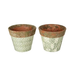 Cathy Ceramic Plant Pot Set (Set Of 2) By Bloomsbury Market