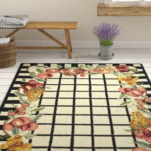Comparison Kinchen Ivory/Black Area Rug By August Grove