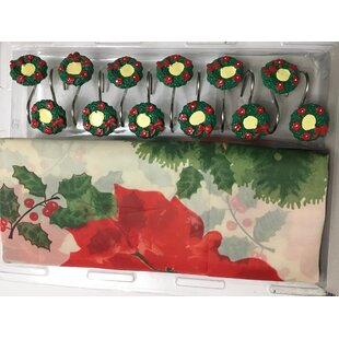 Oreland Christmas Wreath Single Shower Curtain