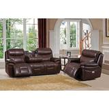 Kubik 2 Piece Leather Reclining Living Room Set by Red Barrel Studio