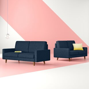 Christo 2 Piece Standard Living Room Set by George Oliver