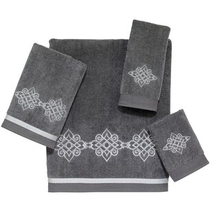 Faulks 4 Piece 100% Cotton Towel Set