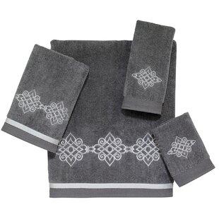 Faulks 4 Piece 100% Cotton Towel Set