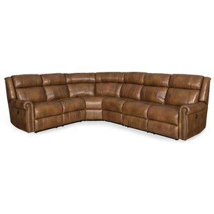 Esme Leather Power Corner Reclining Sectional