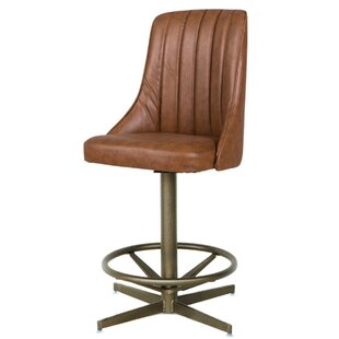 Cuellar 19 Swivel Bar Stool Red Barrel Studio
