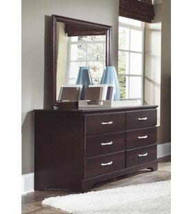 Signature 6 Drawer Double Dresser with Mirror by Carolina Furniture Works, Inc.