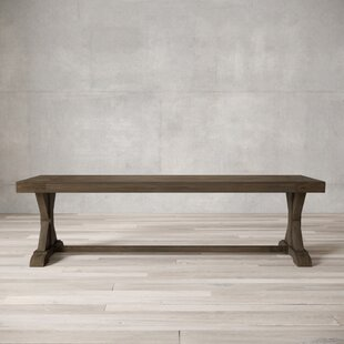Mcdevitt X-Base Wood Bench by Gracie Oaks