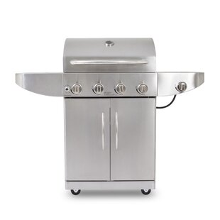 4-Burner Propane Gas Grill With Cabinet And Side Burner By Pit Boss