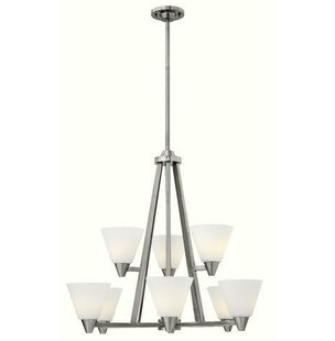 Latitude Run Piscitelli 9-Light Shaded Chandelier