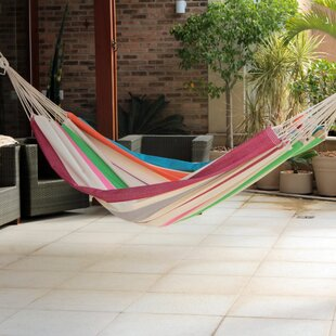 Novica Ceará Cotton Double Tree Hammock