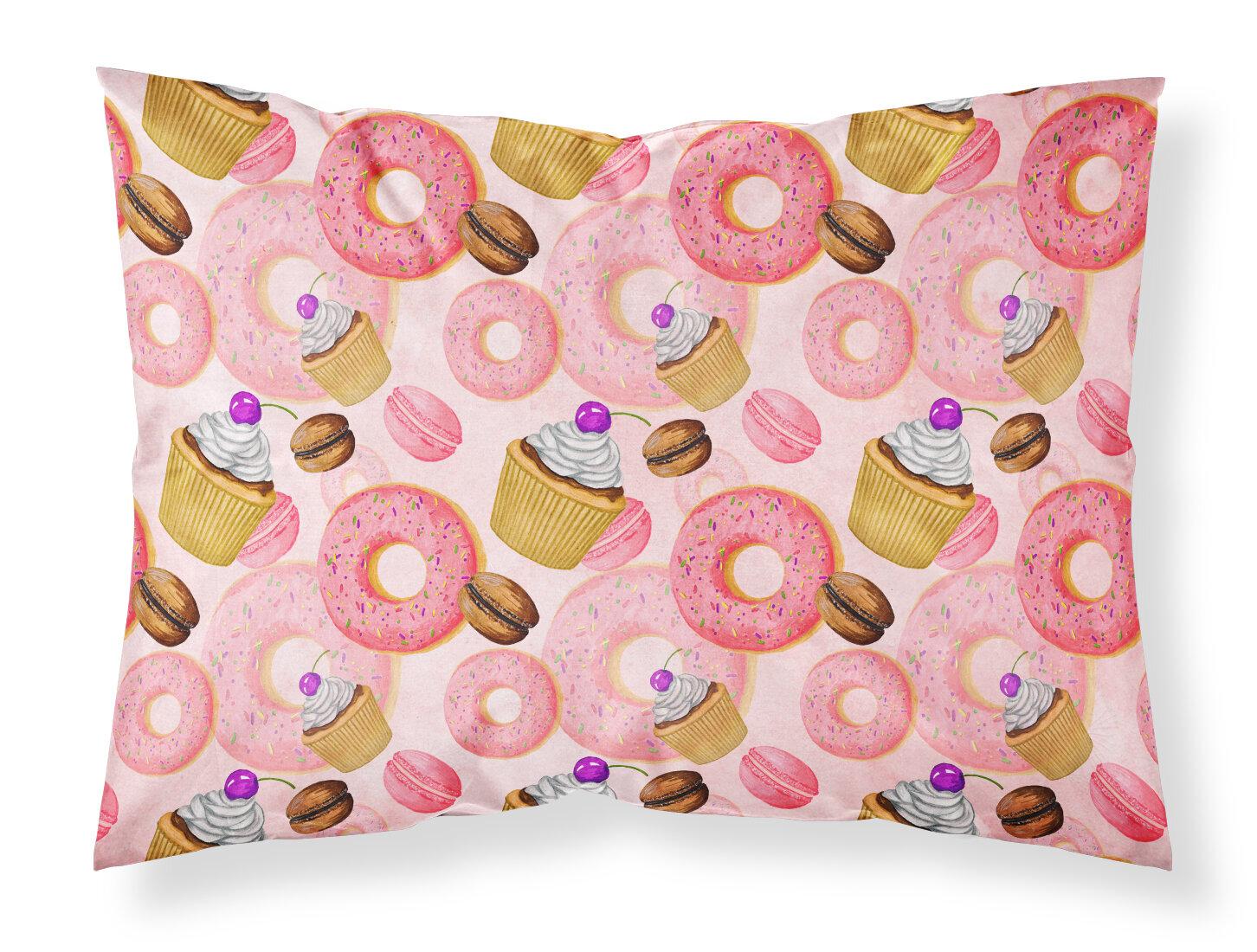 East Urban Home Watercolor Sweet Pastries Pillowcase Wayfair