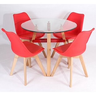 Wodan Dining Set With 4 Chairs By Wildon Home