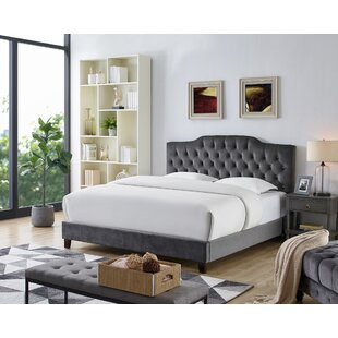 Levingston Velvet Upholstered Platform Bed