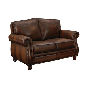 Drumaduan Leather Loveseat by Canora Grey