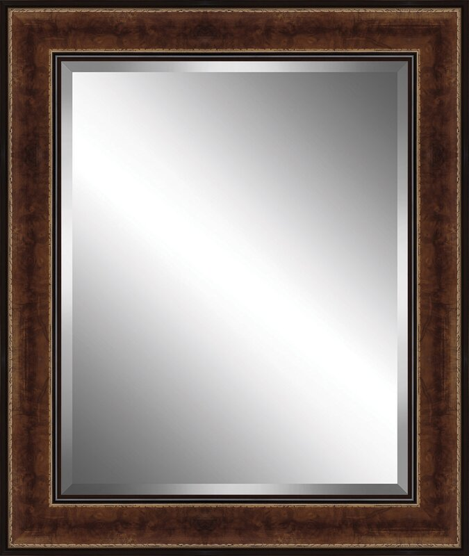 Ashton Wall Décor LLC Traditional Wood Framed Beveled Plate Glass ...