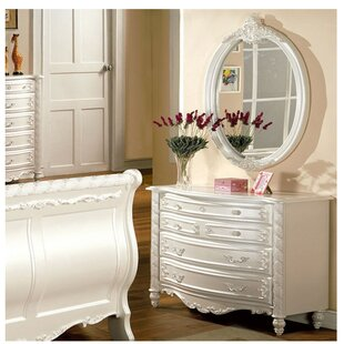 Citlali 4 Drawer Dresser With Mirror