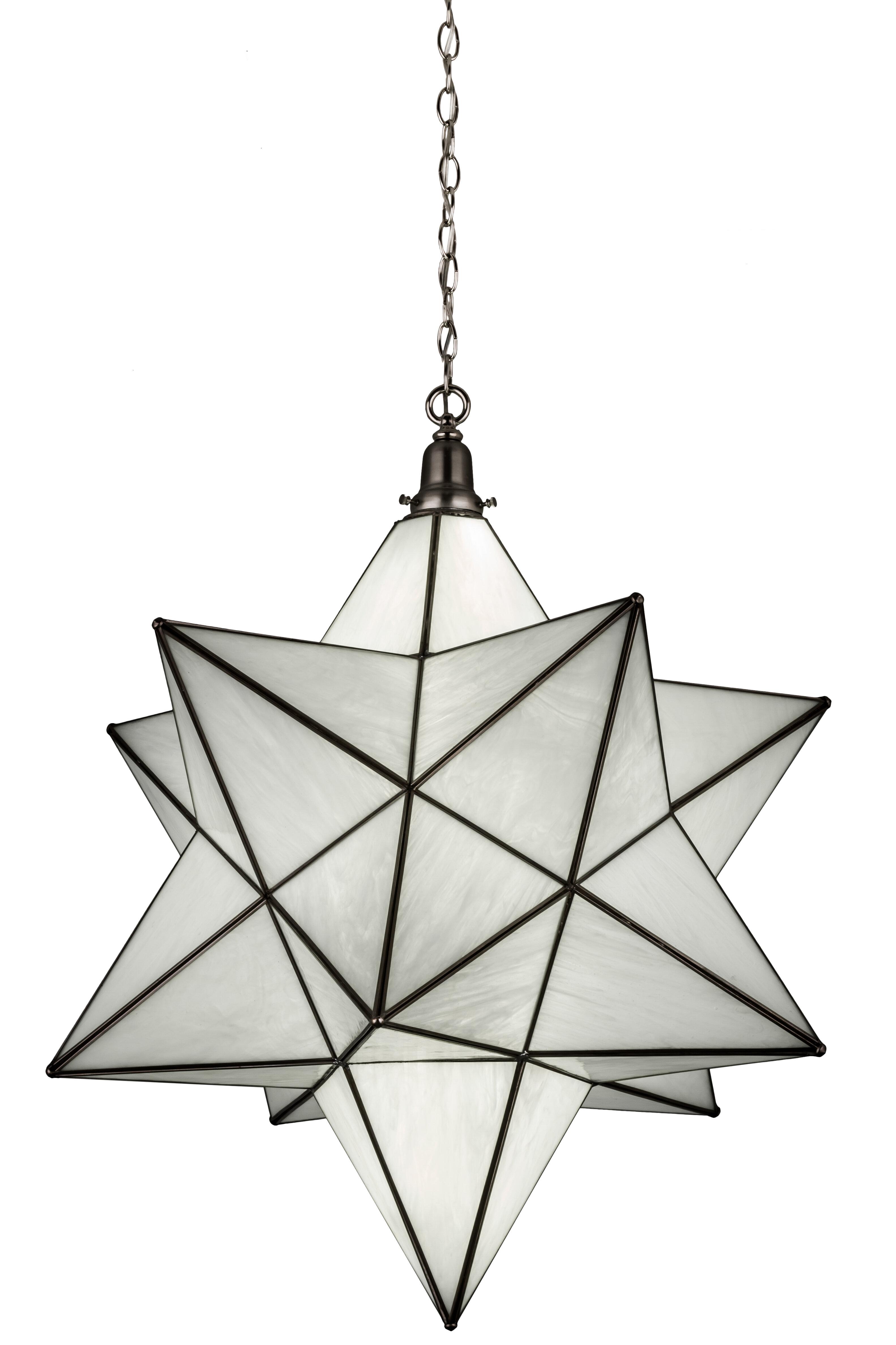 Moravian star 1 light pendant