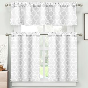 Otis 3 Piece Jacquard Kitchen Curtain Set By Darby Home Co