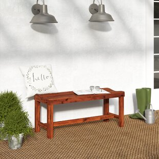 Gabbert Wooden Garden Bench by August Grove New Design