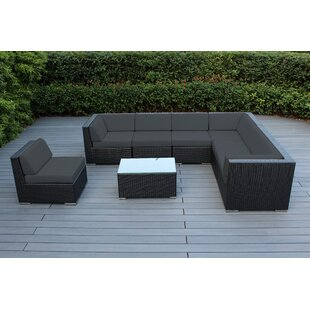 Baril 8 Piece Sectional Set with Cushions by Wade Logan