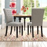 Quane Tufted Linen Upholstered Side Chair (Set of 2) by Andover Mills™