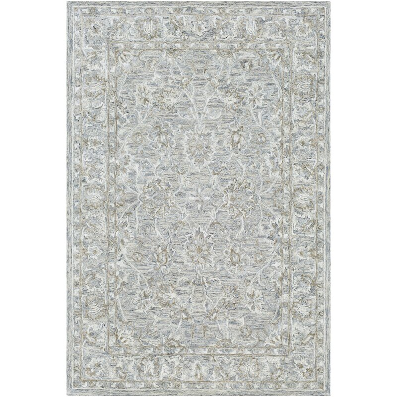 Merrin Geometric Handmade Tufted Area Rug Birch Lane