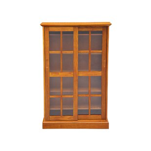 Gillespie Glass Sliding 2 Door Accent Cabinet by August Grove