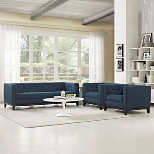 Ivy Bronx Tennille 3 Piece Living Room Set