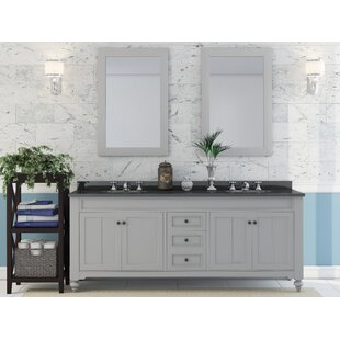 Inexpensive Cabery 72 Double Bathroom Vanity Set with Mirror By Darby Home Co