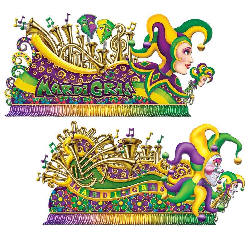 Manske Mardi Gras Float Wall Decal Set - Mardi Gras Wall Art