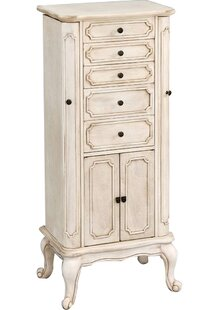 Pia Free Standing Jewelry Armoire with Mirror