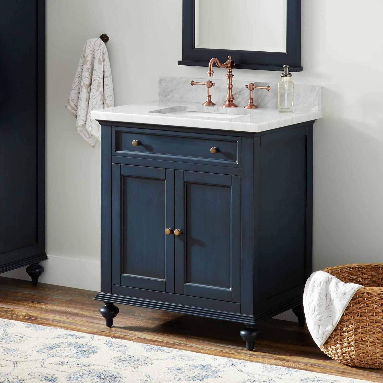 Signature Hardware Keller 31 Single Bathroom Vanity Set Wayfair