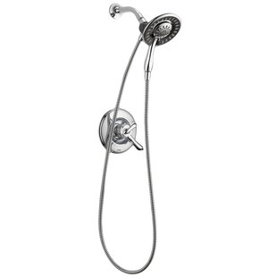 Linden Dual Function Complete Shower System with In2Ition Shower Head / Hand Shower and Integrated Volume Control - Less Rough-In Valve by Delta