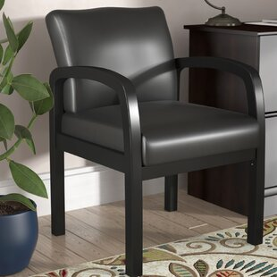 Seales Leather Guest Chair by Charlton Home