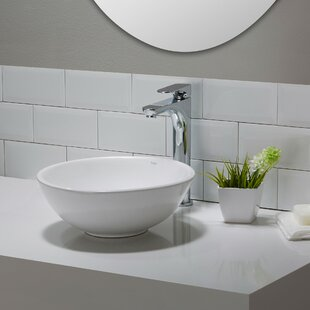 Elavo Ceramic Circular Vessel Bathroom Sink Kraus
