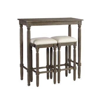 Abree 3 Piece Pub Table Set  sc 1 st  Wayfair & Rectangle Pub Tables \u0026 Bistro Sets You\u0027ll Love | Wayfair