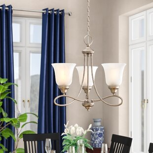 Norwood 3-Light Shaded Chandelier by Three Posts