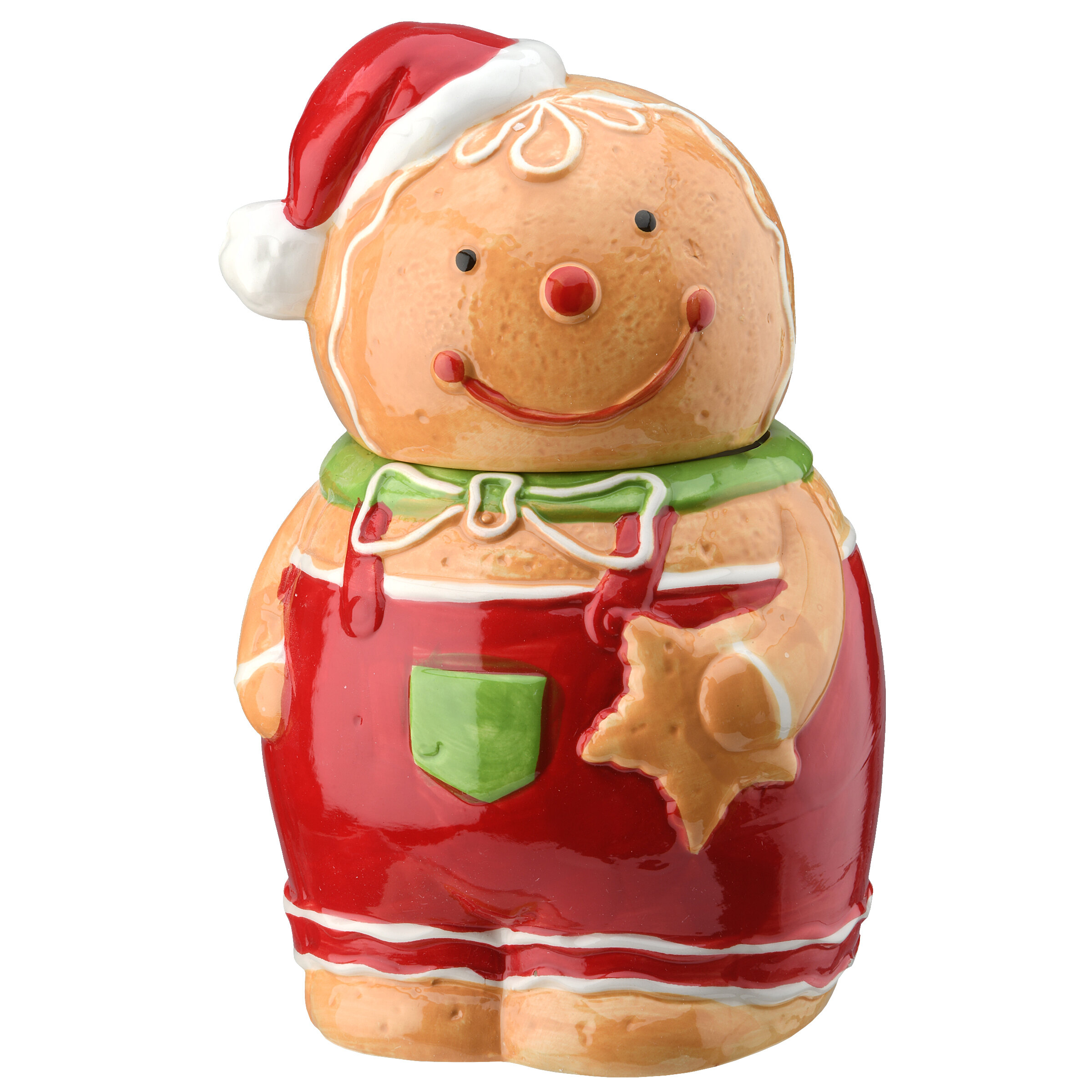 Very Cute COOKIE JAR Christmas Card With Wooden GINGERBREAD MEN